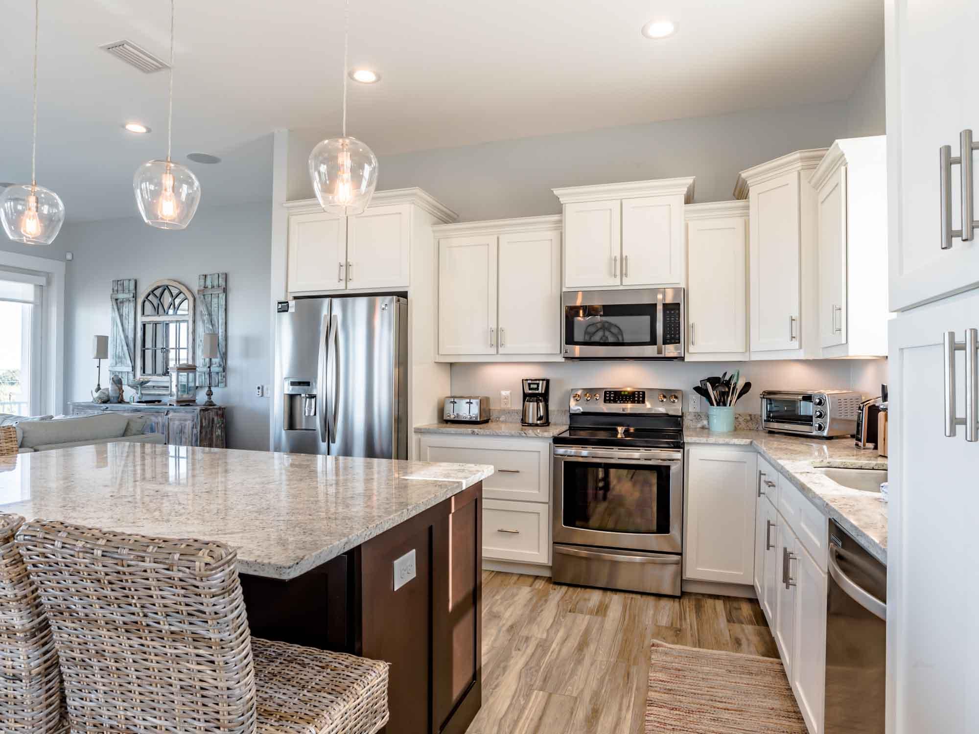 Kitchen in a Pensacola Beach vacation rental