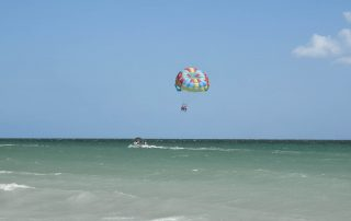 Parasailing over Destin, FL