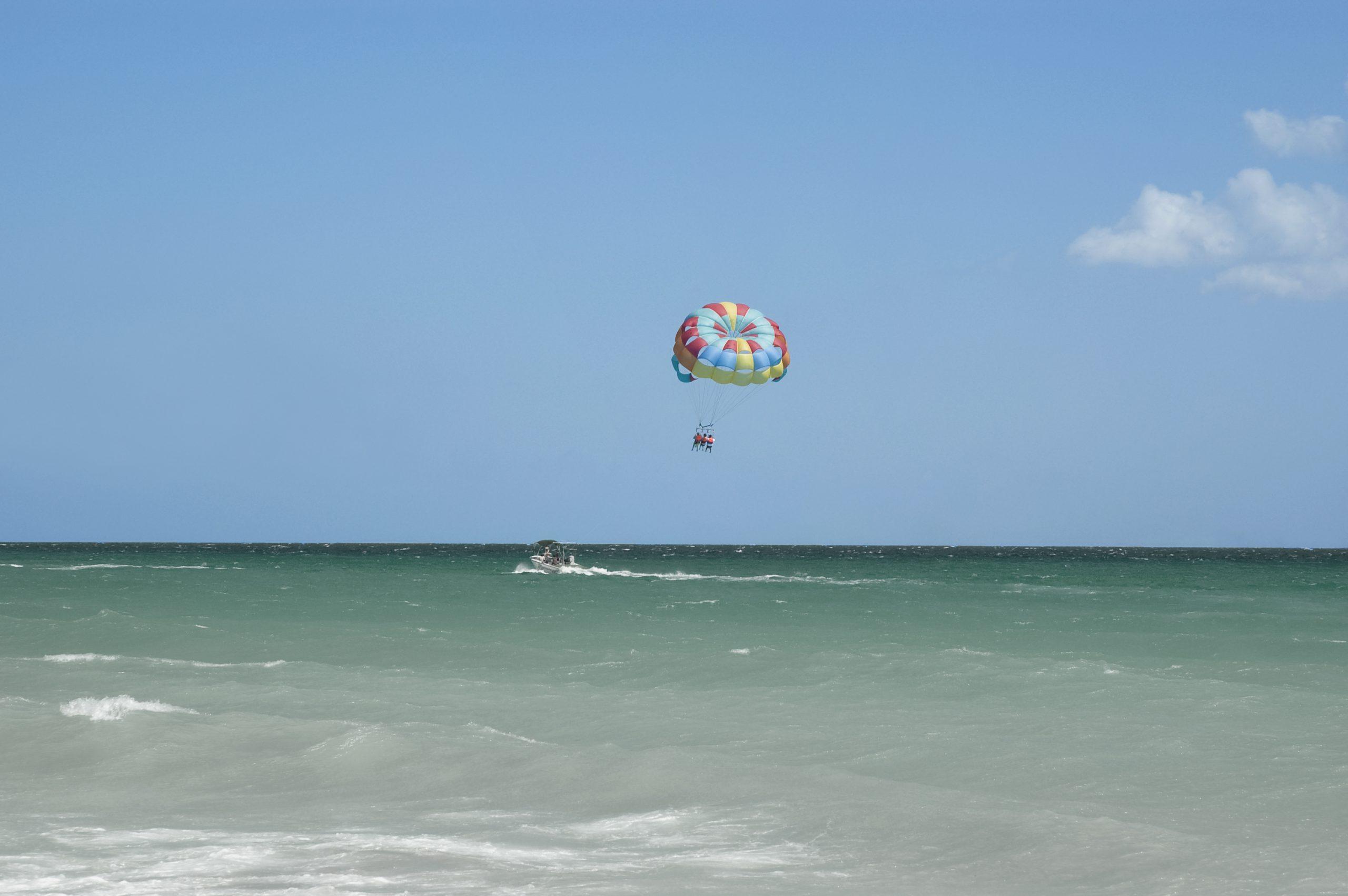 Parasailing over Destin, FL