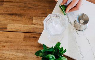 Lemon Lime and Basil Cocktail Recipe