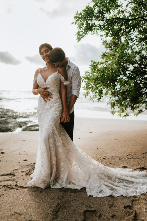 Beautiful couple at a Costa Rican destination wedding
