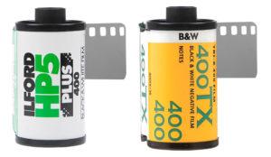 Kodak Tri-X 400 vs. Ilford HP5 400 film canisters icon