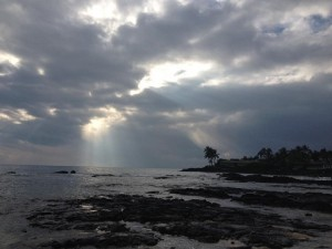 August 2014 - Picture from my vacation to Kona, Hawaii (with beautiful skyline thanks to Hurricane Iselle)