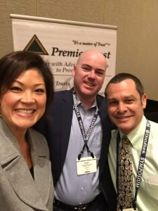 Wishing Steve Oshins a Happy Birthday with Brian Simmons (Premier Trust) and Jonathan Mintz (Matsen Voorhees Mintz, LLP)