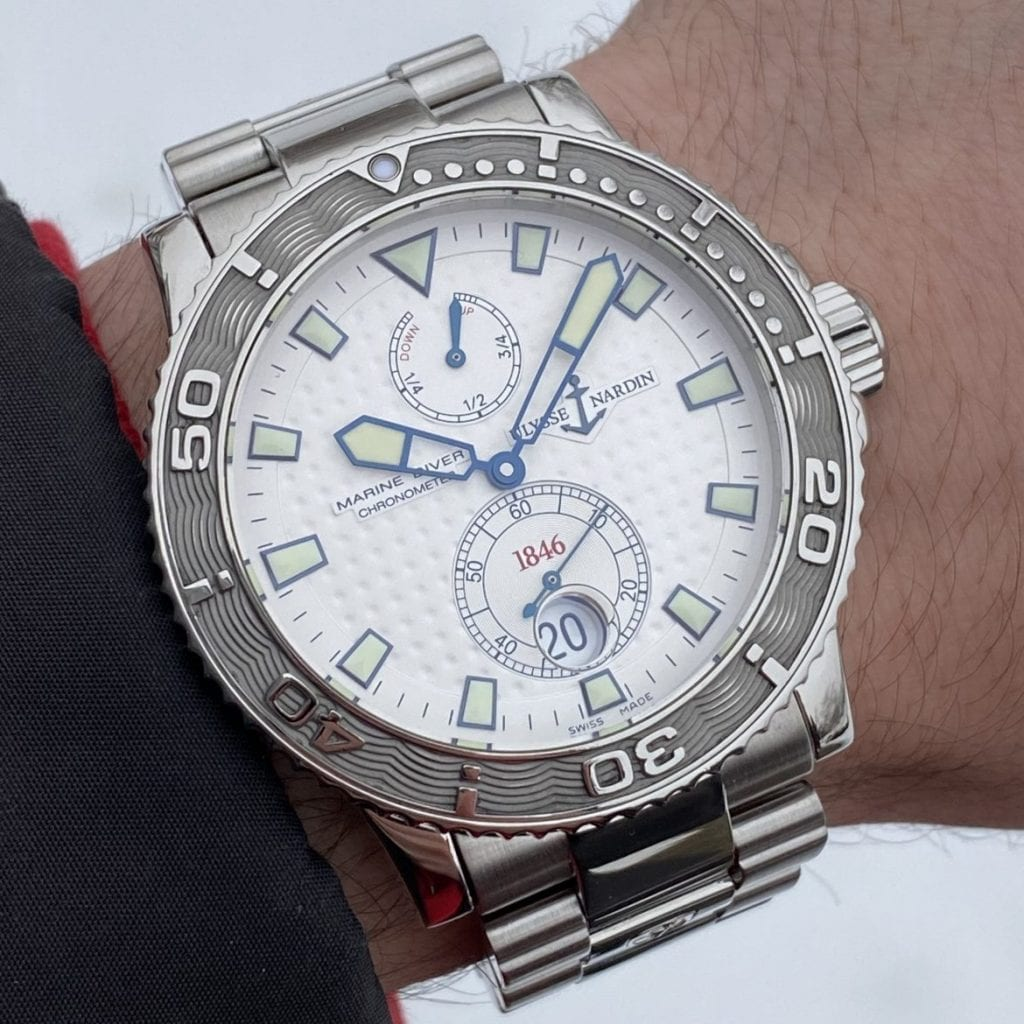 white dial, ullyse narding, luxury watch