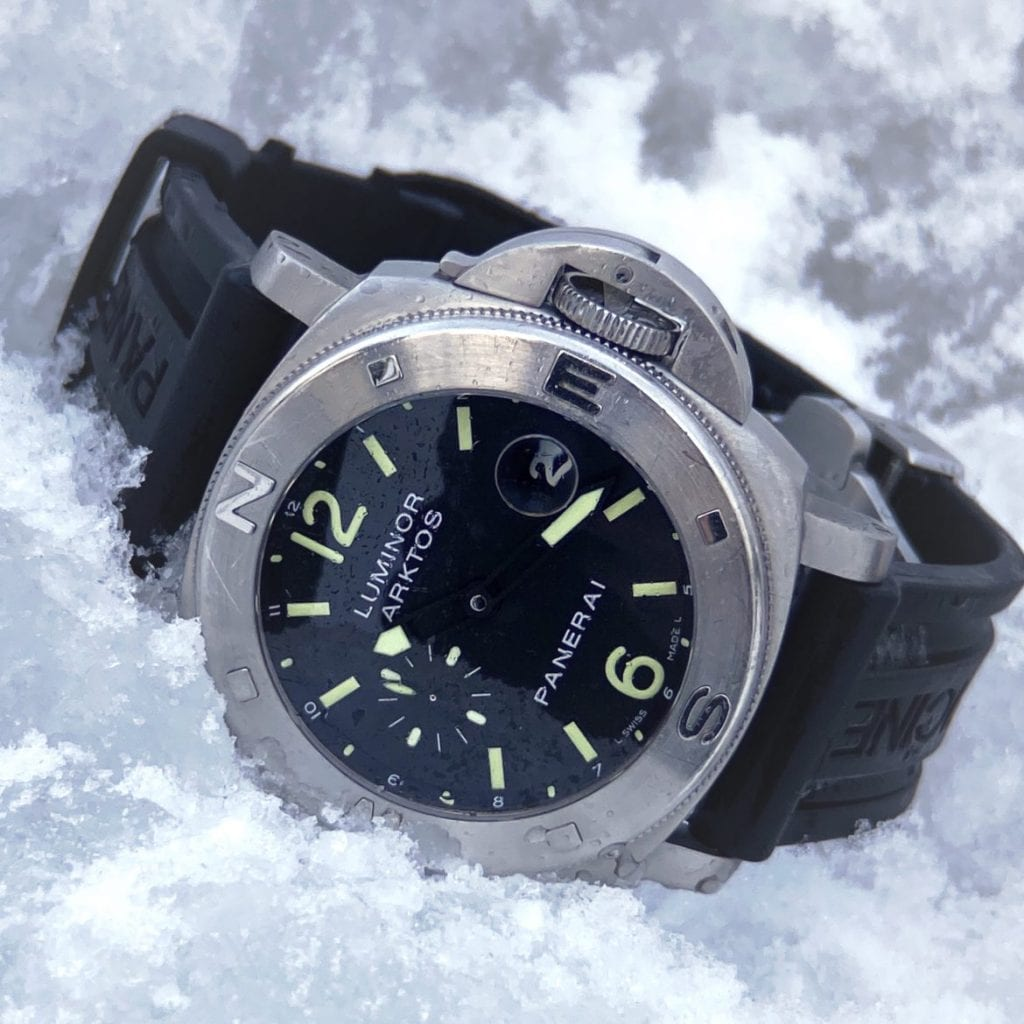 snow, panerai, panerai submersible,