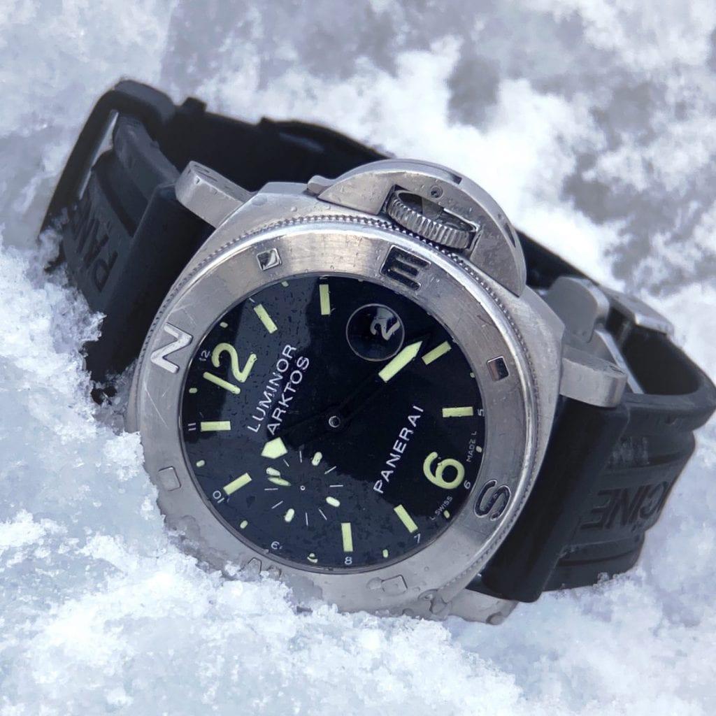 snow, panerai, panerai submersible,