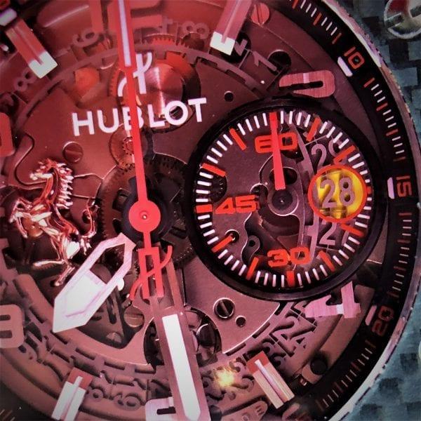 Hublot, Red dial, skeleton