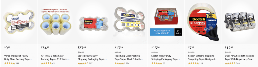 Shipping tapes, amazing, different tapes