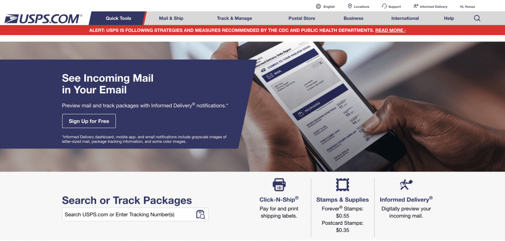 home page usps