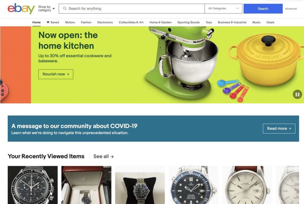 ebay home page, ebay watches for sale