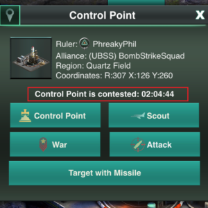 Control Point is contested
